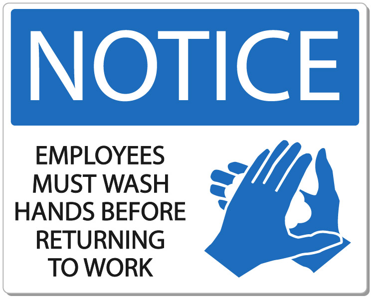 Washing hands at work is an effective method of hygiene management